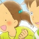 Imágen promocional de 'Aoi Hane Mitsuketa! Sagashite Miyou Mijika na Tori-tachi' con un primer plano de perfil de los protagonistas.