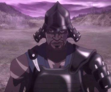 Imagen tomada del tráiler de 'Yasuke' con un primer plano del protagonista.