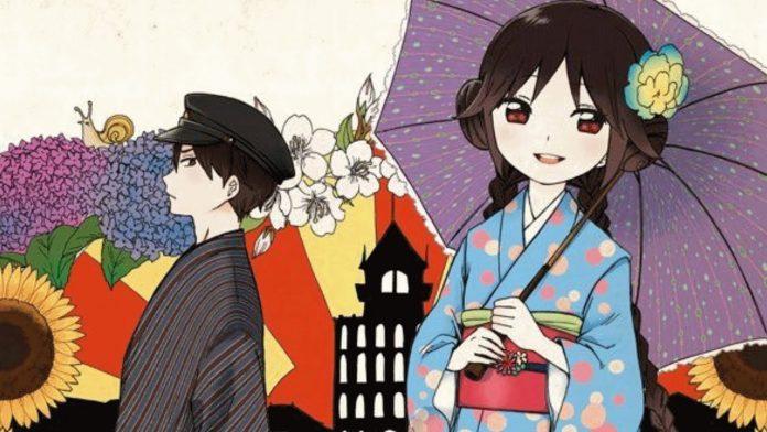 Imagen tomada del manga 'Taishou Otome Otogibanashi' con los protagonistas paseando por la ciudad.