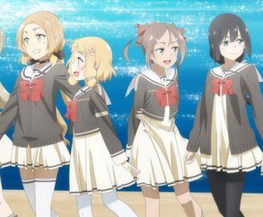 Imagen tomada del teaser de 'Yuuki Yuuna wa Yuusha de Aru Dai Mankai no Shou' con las protagonistas frente al mar.