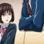 Imagen tomada del anime 'Koi to yobu ni wa kimochi Warui' con la protagonista mirando con asco al antagonista.