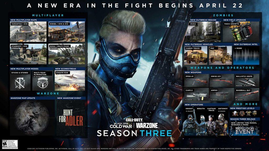 Contenido que llegará a COD Warzone y Black Ops.