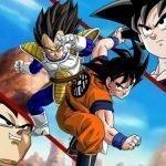 Imagen del primer combate entre Goku y Vegeta en Dragon Ball Z