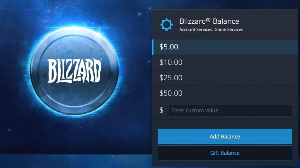 Tienda de Blizzard.