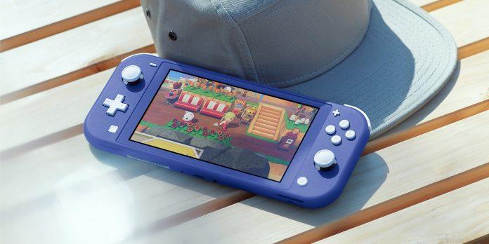 Imagen promocional de la nueva Nintendo Switch Lite en color azul