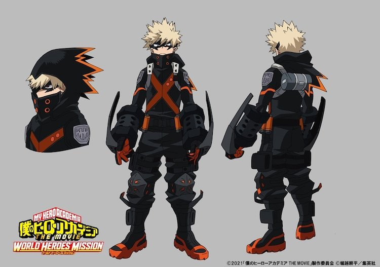 Diseño de Bakugo en 'Boku no Hero Academia the Movie World Heroes' Mission'.