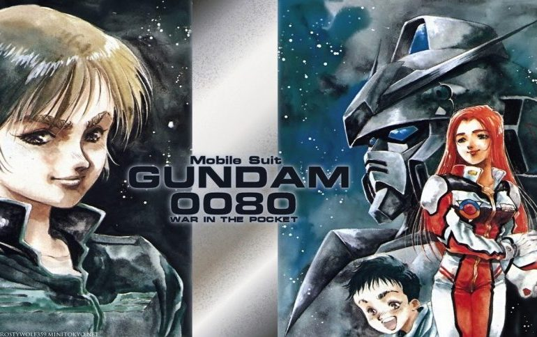 Imagen promocional del.manga 'Mobile Suit Gundam 0080: War in the Pocket'.