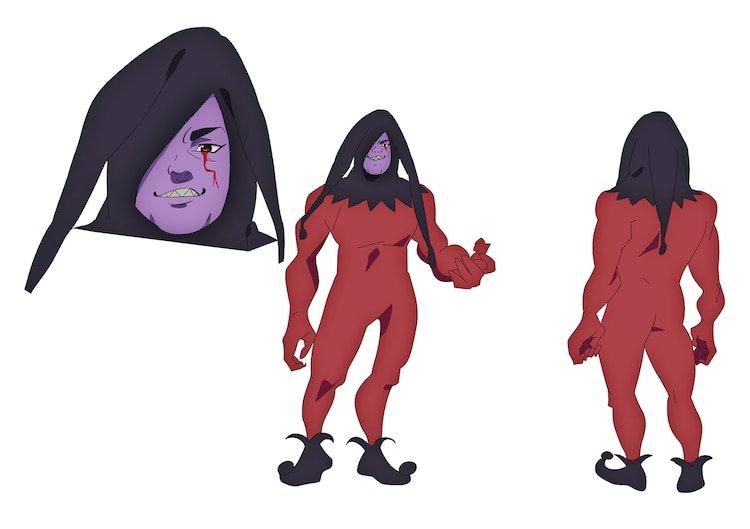Diseño de Personajes originales de Nanatsu no Taizai Movie Hikari ni Norowareshi Mono-tachi