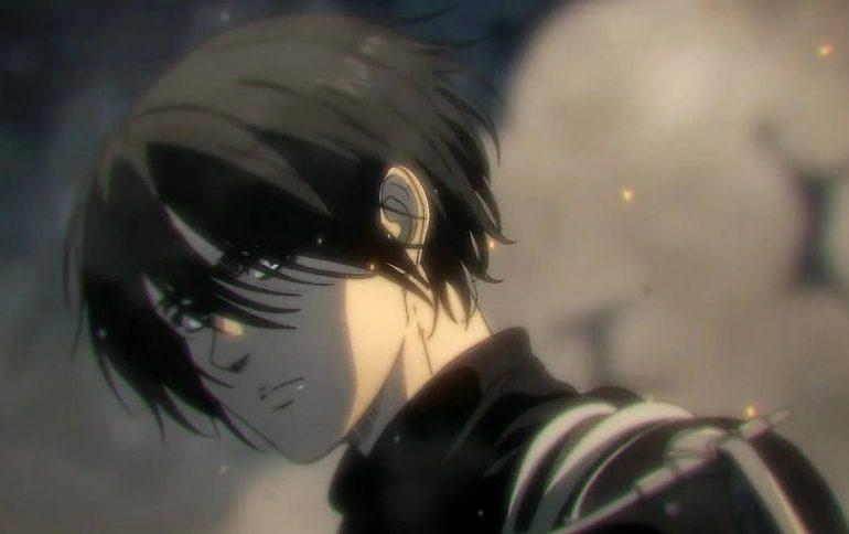 Imagen tomada de 'Shingeki no Kyojin' con un primer plano de Mikasa de perfil.