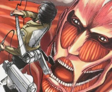 Portada del primer volumen de 'Shingeki no Kyojin'.