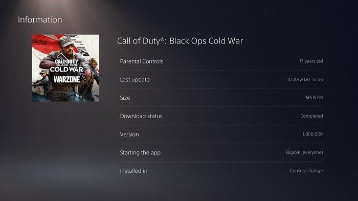 Call of Duty en PS4.