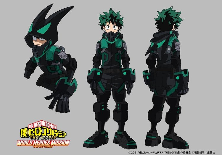 Diseño de personaje de Deku en ' Boku no Hero Academia the Movie World Heroes' Mission'.
