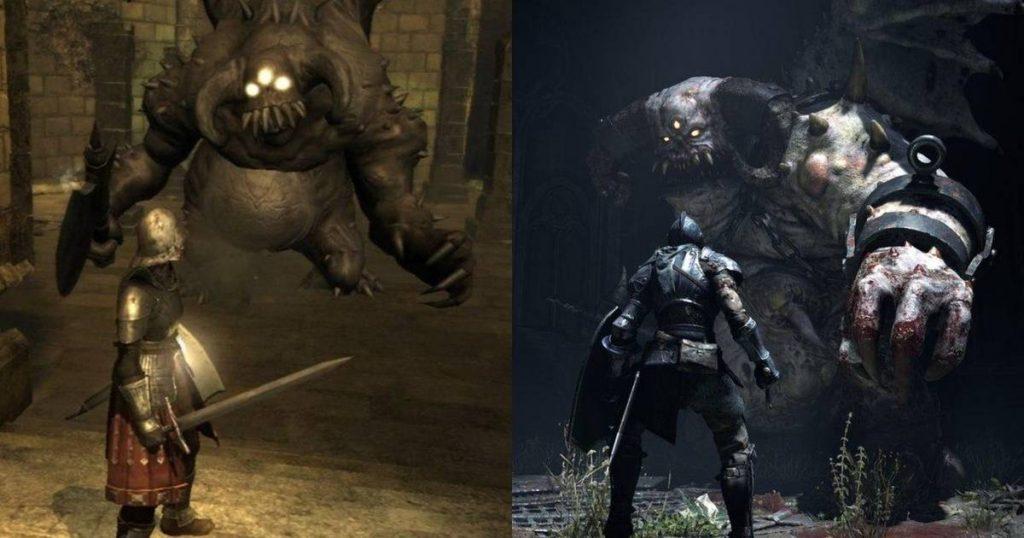 Demon's Souls Remake y el original.