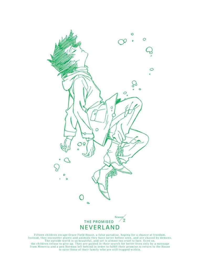 Portada del DVD y Blu-Ray de 'Yakusoku no Neverland'.