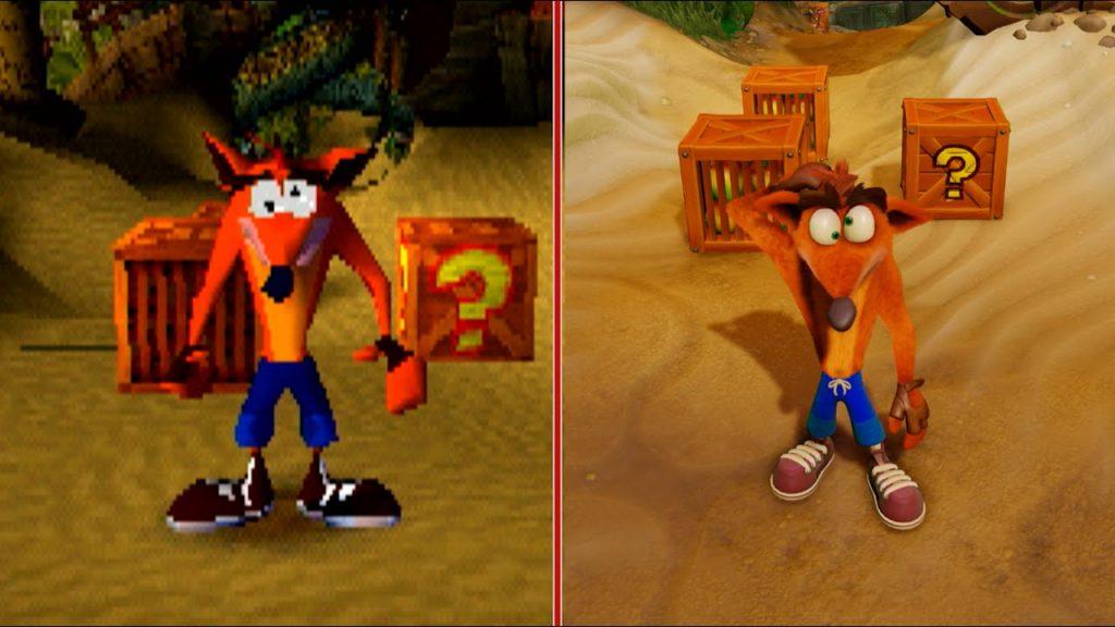 Comparación de versiones de Crash.