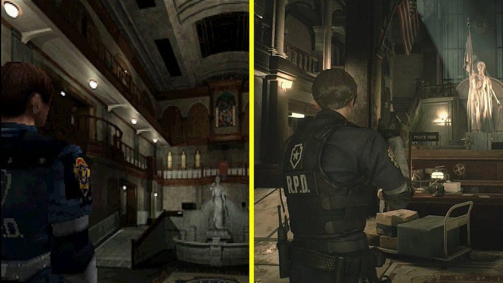 Resident Evil 2 vs Remake.
