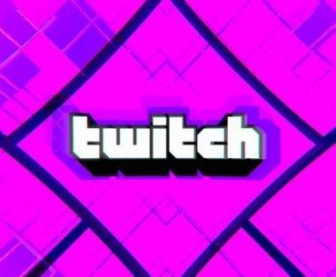 Logo de Twitch en un fondo morado