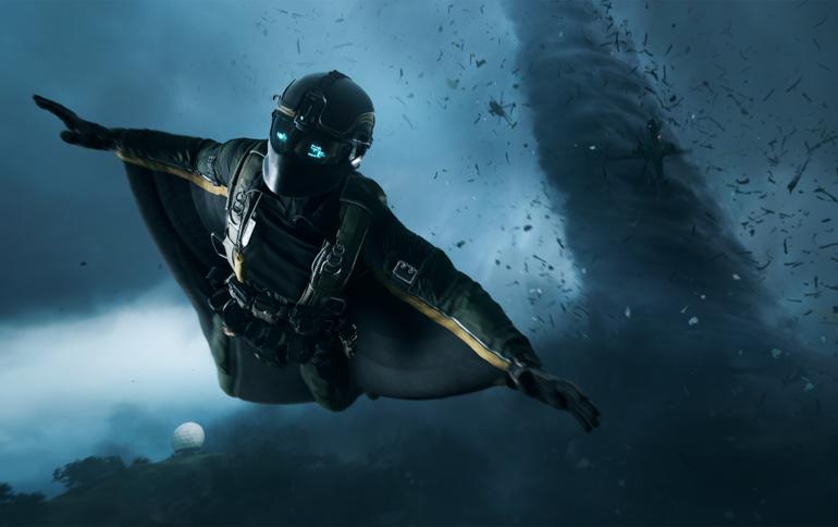Personaje volador de Battlefield 2042.