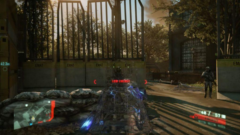 Jugabilidad de Crysis Remastered.