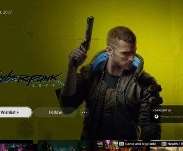 Cyberpunk 2077 en tienda de Sony.