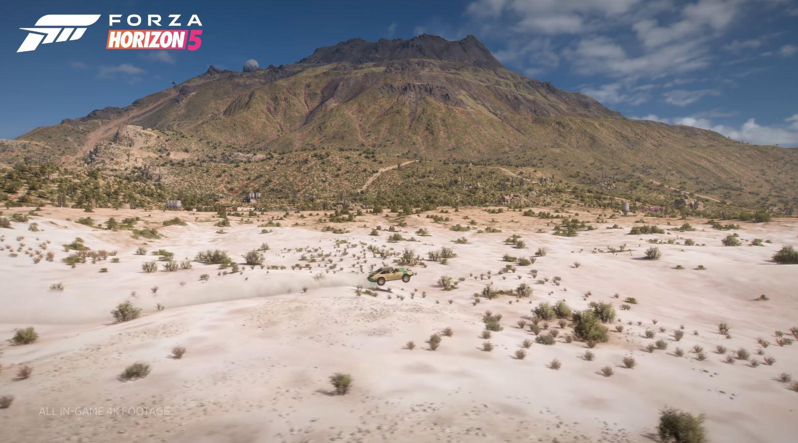 Forza Horizon 5 en desierto.