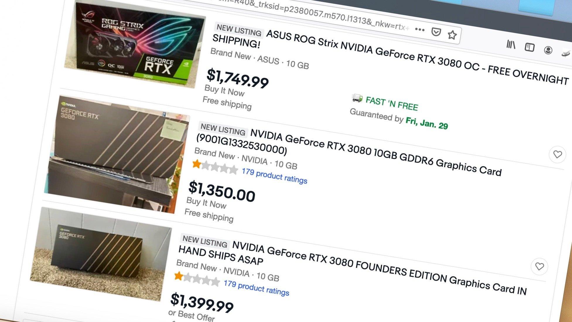 Venta de GPUs usadas.