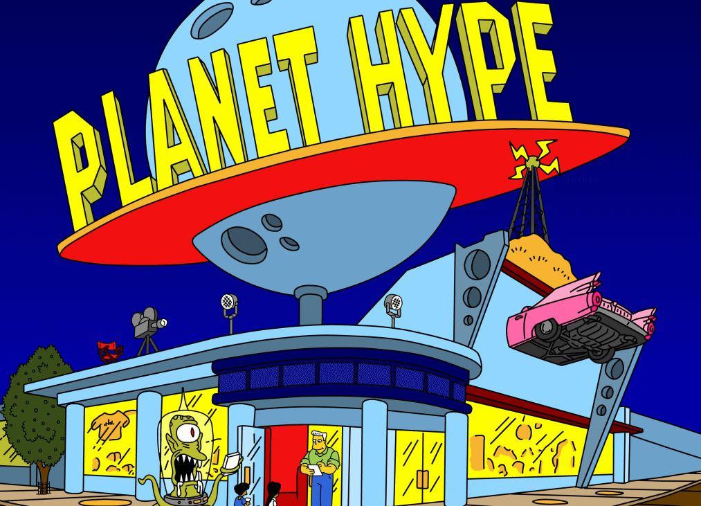 Planet Hype de videojuego de los Simpsons.