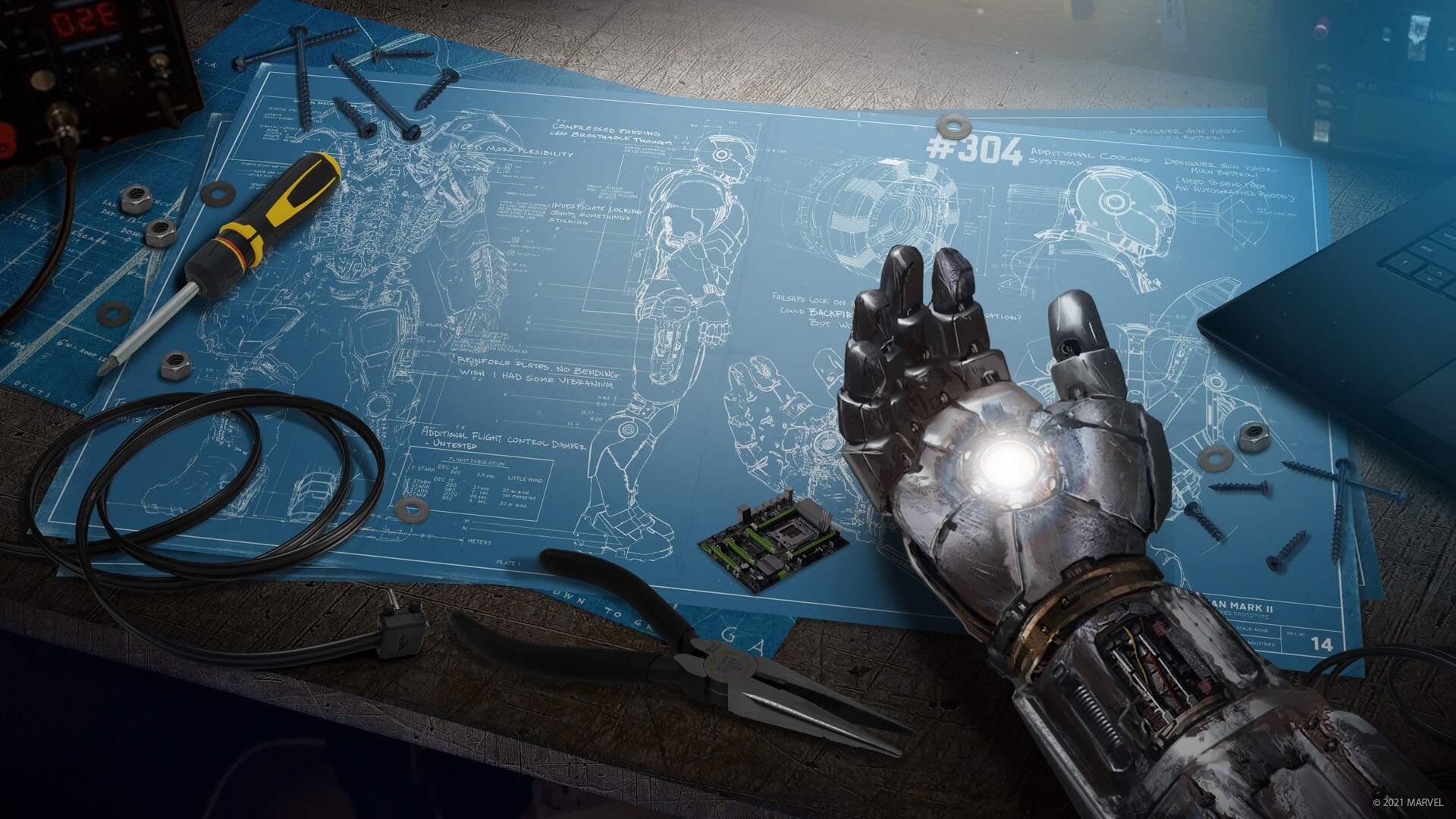 Arte de Marvels Avengers.