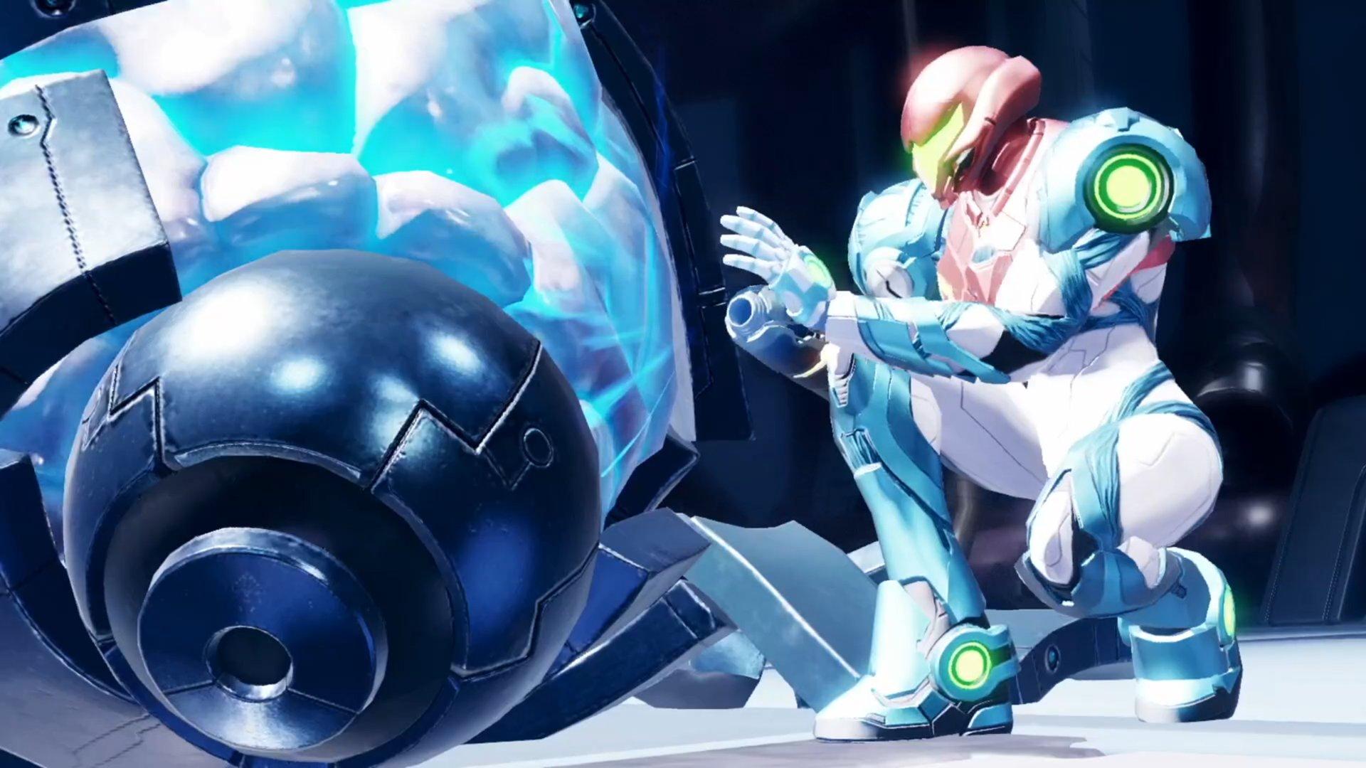 Jugabilidad de Metroid Dread.
