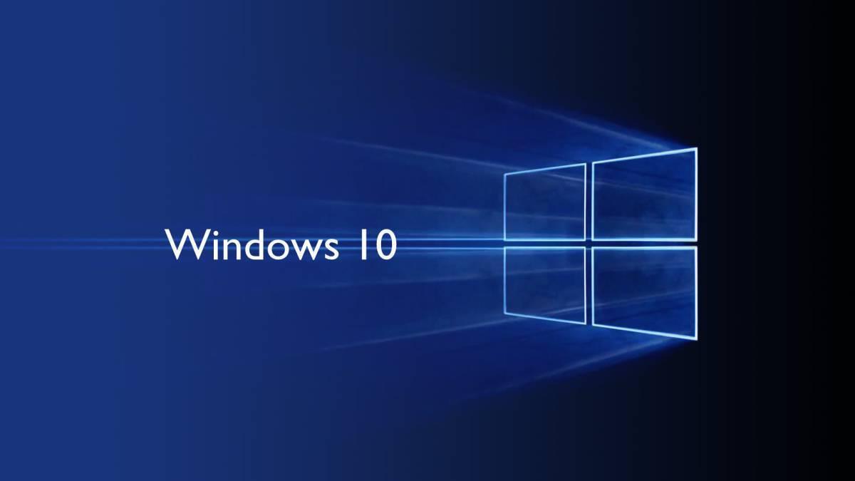 Sistema operativo Windows 10.