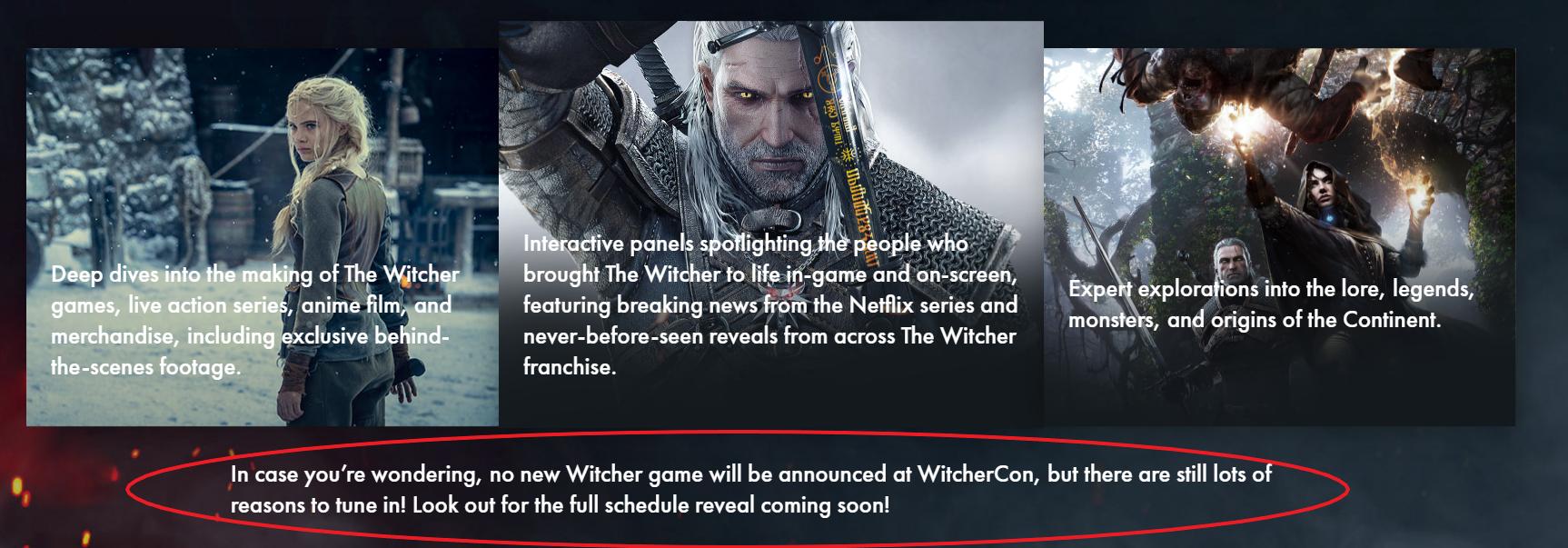 Anuncio WitcherCon.