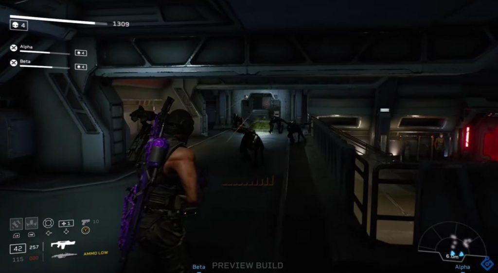 Jugabilidad de Aliens: Fireteam Elite.