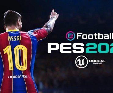 Arte promocinal de eFootball PES 2022.