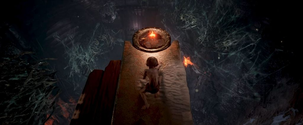 Jugabilidad de Lord of the Rings: Gollum.