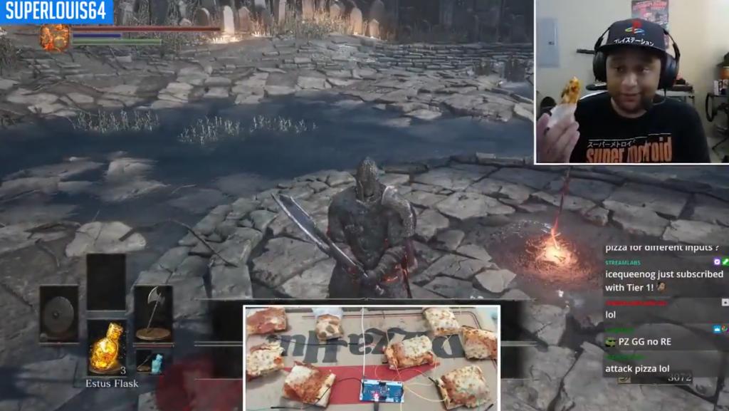 Pizza en Dark Souls III.