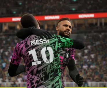 Neymar y Messi en eFotball.