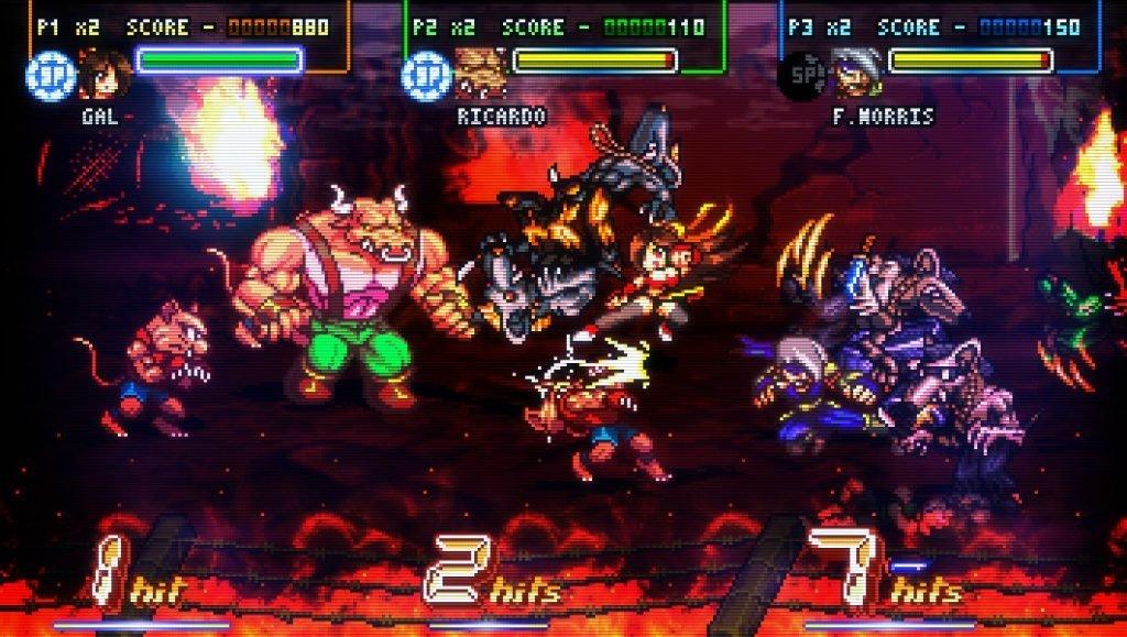 Jugabilidad de Fight N' Rage.