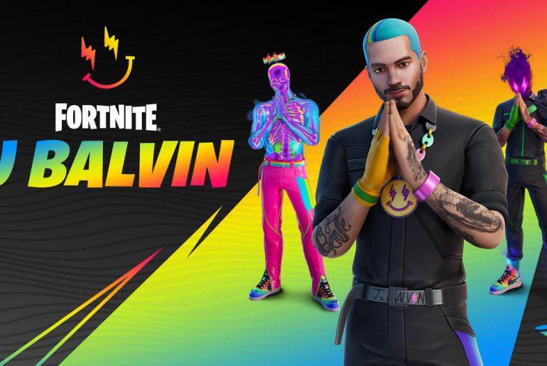 J Balvin en Fortnite.