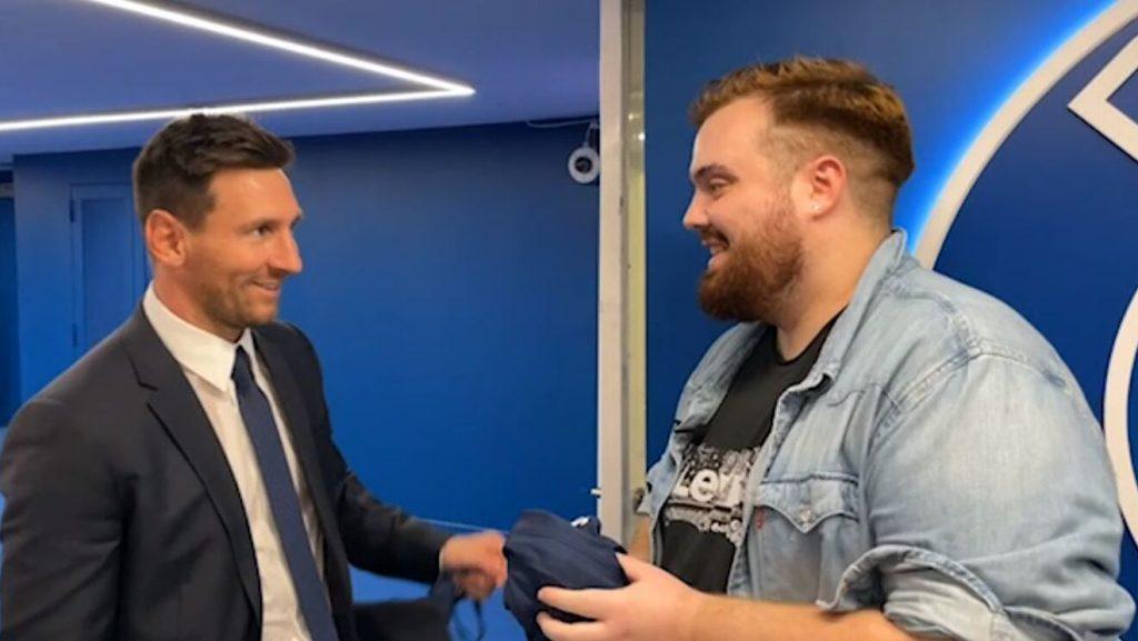 Messi con Ibai.