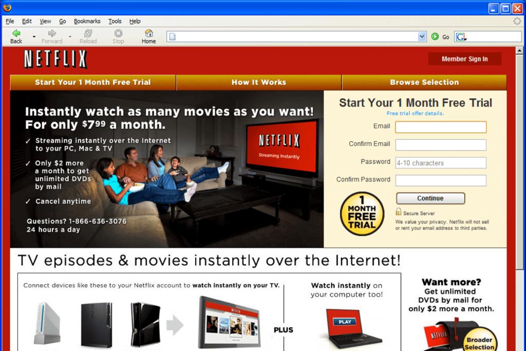Internetowy Netflix.