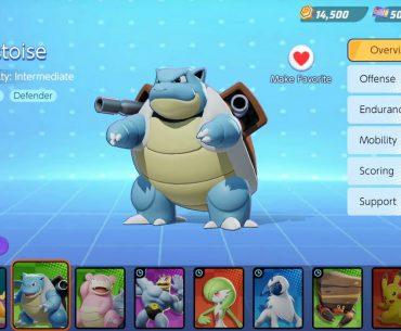 Blastoise en Pokémon Unite.